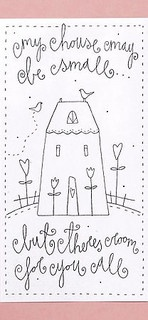 RETIRADO DA NET by flavia_sm1963, via Flickr ...... My house may be small, but there is room for you all.