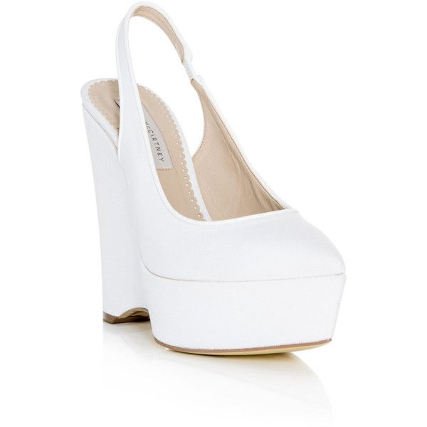 Stella McCartney Natalie canvas wedge shoes ($604) ❤ liked on Polyvore