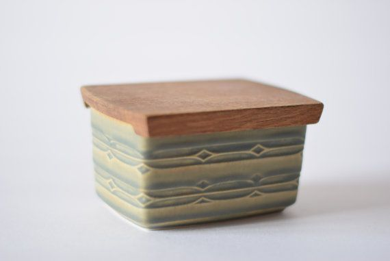 Quistgaard - RUNE - butter dish with oak lid - 1970s - Danish midcentury