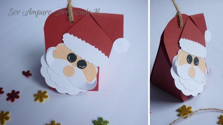 Manualidades para Navidad: como hacer Cajita para decorar con papá Noel ...