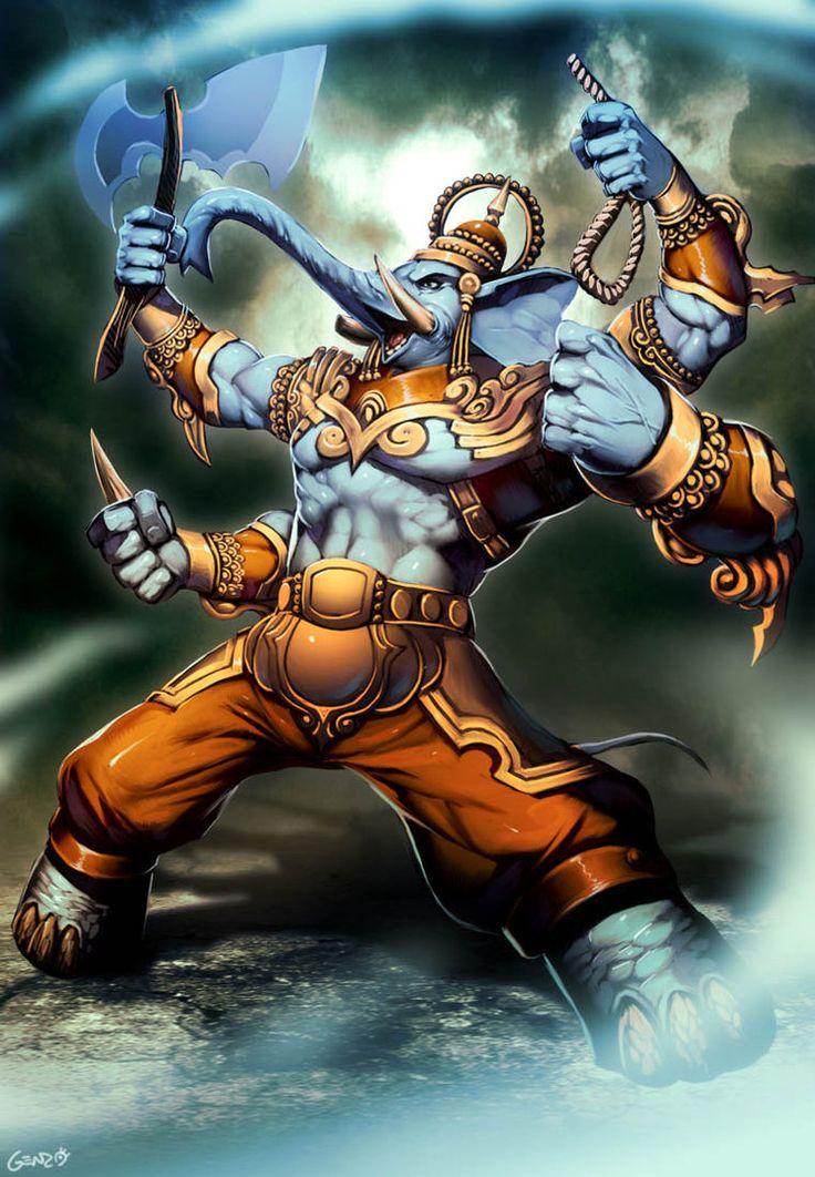 Ganesha by *GENZOMAN on deviantART