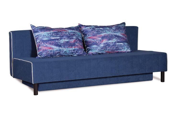 Диван-кровать Альто 222.03 ткань фиолетовая. Отличный вариант для квартиры-студии, небольшой гостиной или детской комнаты. Несмотря на компактный размер имеет достаточной ширины спальное место. Принцип работы механизма «Еврокнижка» прост: чтобы превратить диван в кровать, нужно выдвинуть вперед сидение и опустить спинку. Диван «Альто» оборудован в нижней части вместительным коробом для белья.  Декоративные подушки входят в комплект.