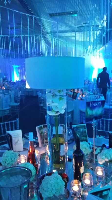 Table Decor --- Lamps with submerged Orchard