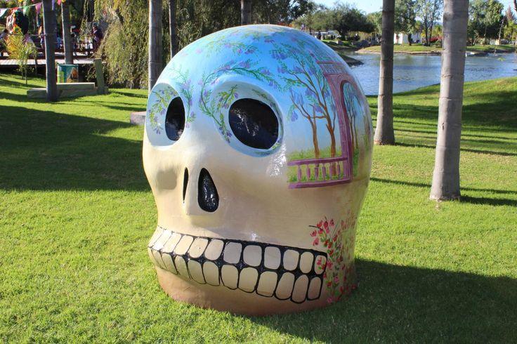 calavera, cabeza, estatua, monumento, muerte, parque, 1706050803