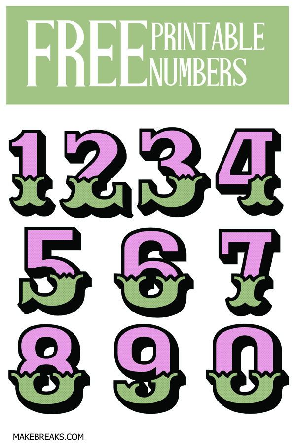 Ornate Free Printable Numbers Free Printable Letters Alphabets