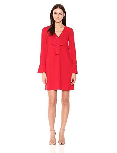 e975702b556 Great for Donna Morgan Women s V Shift Dress with Tie at Center Front Neck  online.   118.00  alltrendytop from top store