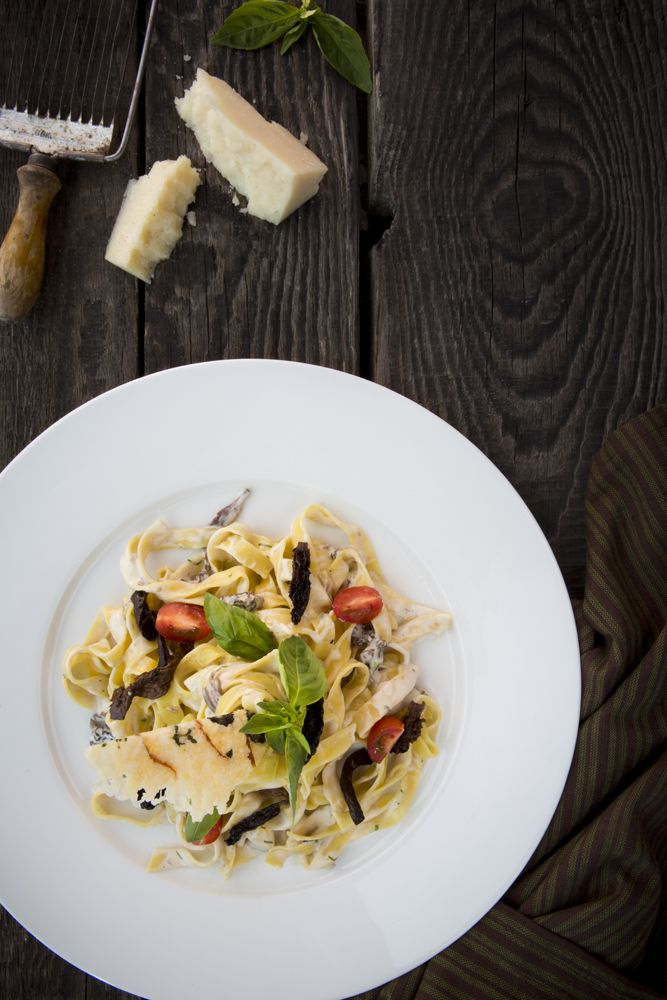 Fettuccine wild mushroom Alfredo pasta we shot for Provedore restaurant in Dubai. Food photography and food styling by weshootfood.net #foodphotogrpahy #foodstyling #food #photography #dubai