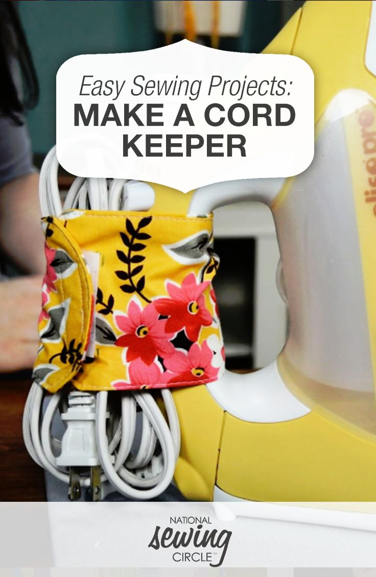 Make a Cord Keeper from Your Fabric Stash | National Sewing Circle                                                                                                                                                                                 More