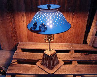 Toaster Colander Lamp,vintage,repurposed,creative lighting,industrial,vintage antique kitchen light,gift for chef cook,home decor,food lover