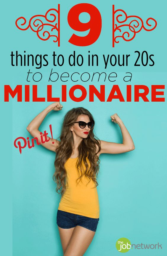 When you think about someone who is a millionaire, you most likely think about someone who is rich, has a good job and makes a lot of money. The reality is, you don't need to fall into any of those categories to become a millionaire. In fact, if you're in your 20s, you can take steps to become a millionaire by age 30.