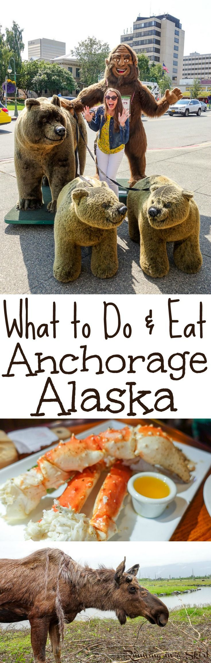 What to Do & Eat in and around Anchorage, Alaska USA- fun things to do in downtown in summer, restaurants and food, breweries and places to visit like a gold mine , Alaska Wildlife Conservation Center and Gwennies.  Beautiful pictures and tips of this bucket list adventure trip.  / Running in a Skirt