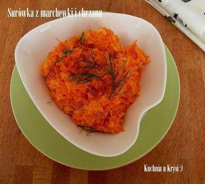 Kuchnia u Krysi: Surówka z marchewki i chrzanu