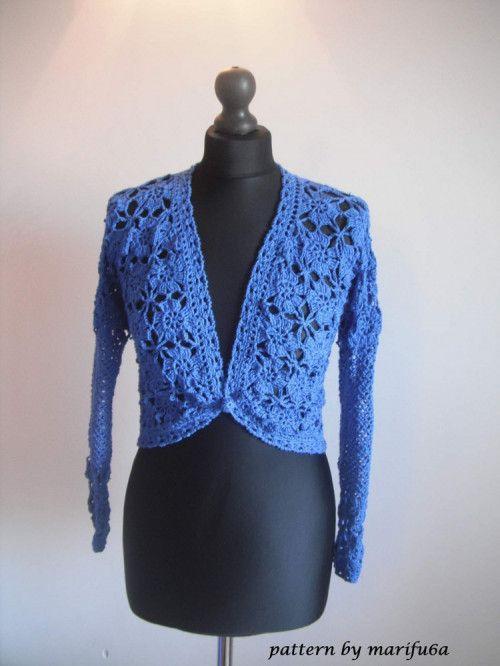 Elegant Crochet Bolero Jacket Pattern Pdf Nr 50 Crochet Shrugs