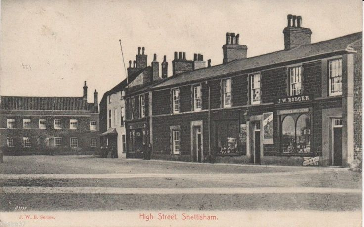 Norfolk Postcard Snettisham Hunstanton & Lynn High St JW Bodger Shop In View | eBay