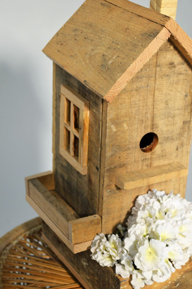 Pallet Bird HouseREDRESS me All birdhouses are made from 100% Reclaimed Pallet Wood, each have their own unique character. They are genuinely one of a kind. A g