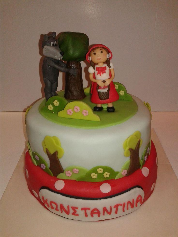 red ridding hood cake