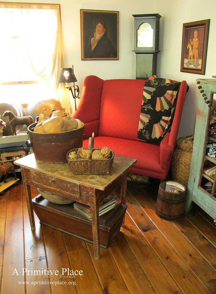 Decorative Matching Living Room: 300 Best Images About Prim & Colonial Living Rooms On