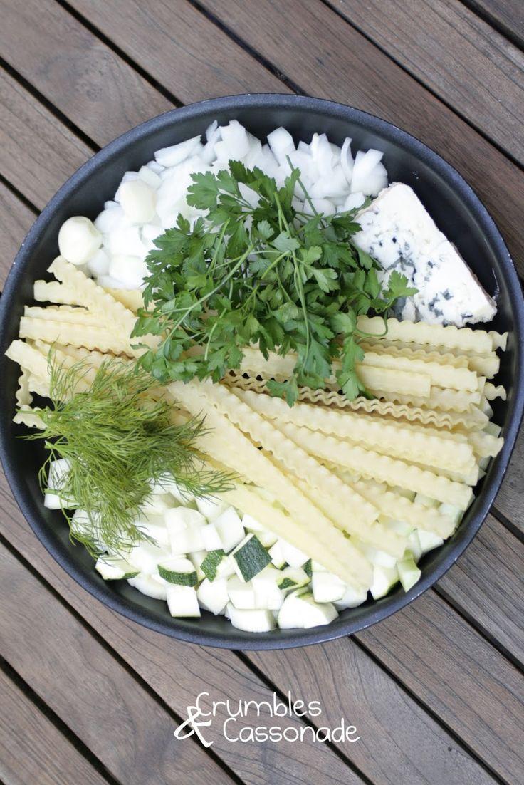 Crumbles et Cassonade: One pan pasta aux courgettes et roquefort