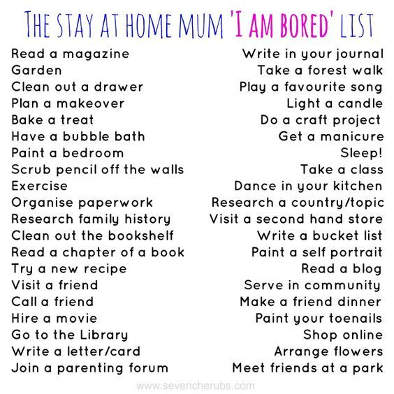 Things To Do When You're Bored At Home Kids