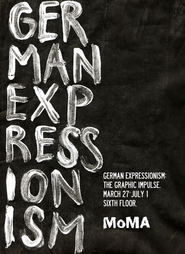MoMA German Expressionism by Tom Storoniak, via Behance