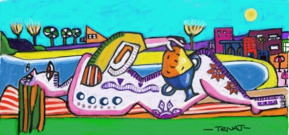 Picassos muse on holiday....... with her pot of gold