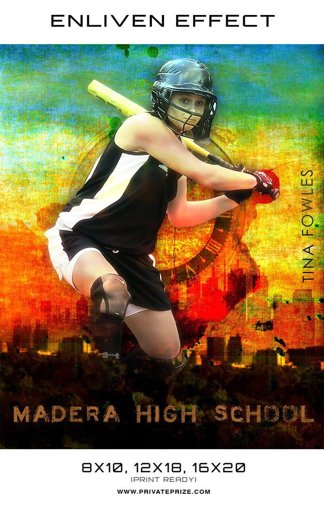 Tina Softball High School Sports - Enliven Effects