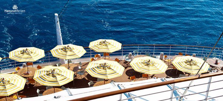 Einzigartiger Meerblick vom Heck der AIDA Schiffe!