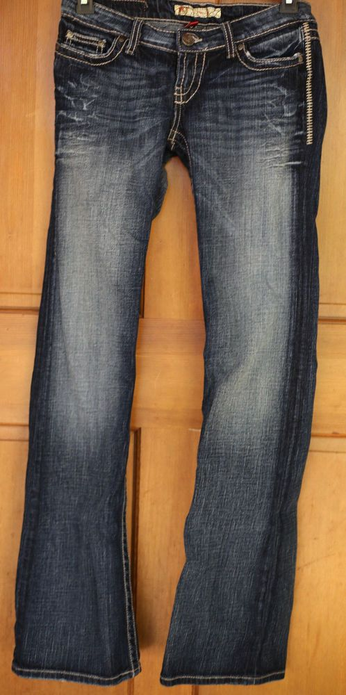 BKE Stella Flap Pocket Stretch Boot Women's Jeans 27 x 34   eBay