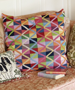Kaffe Fassett has designed this cushion in his own unique and inimitable style, exclusively for the web site using Cotton Glace (rowan)