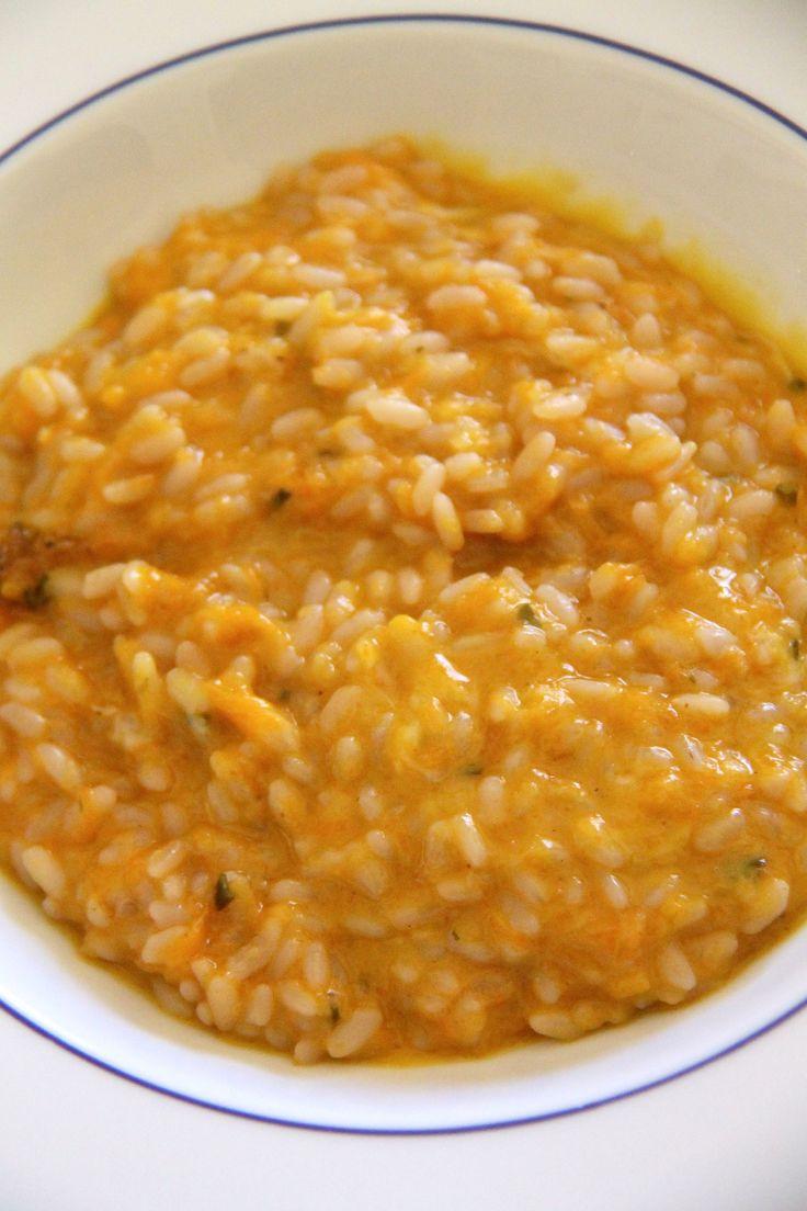 Risotto con crema di zucca e gorgonzola
