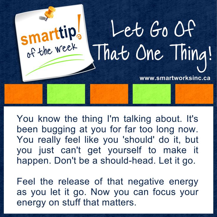 Are you hanging onto something but just can't find your mojo to get it done? Let it go ... check out my tip of the week for some inspiration! Let Go Of That One Thing! www.smartworksinc.ca