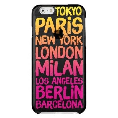 Favorite Cities Neon Uncommon Clearly??? Deflector Iphone 6 Case featuring…