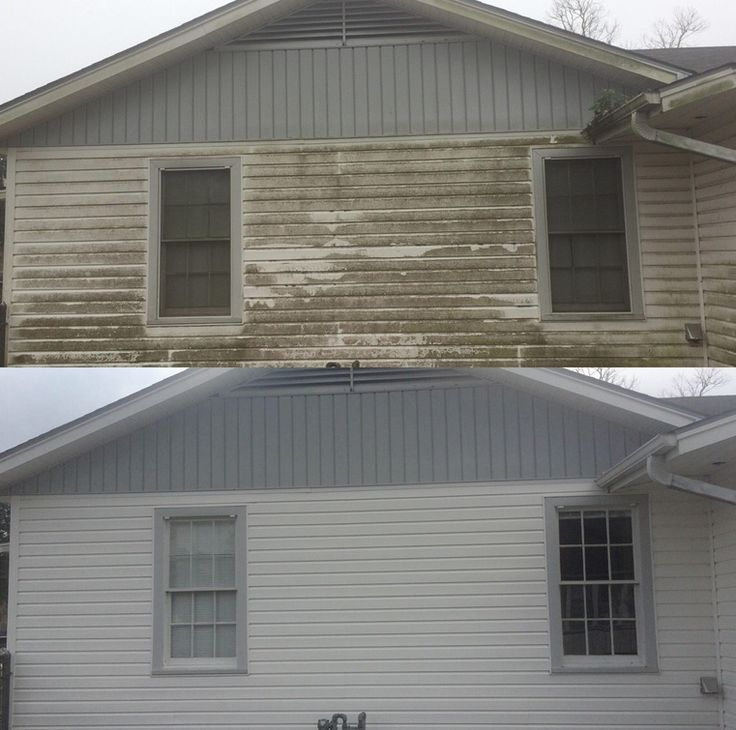 Pressure Washing House Siding Before And After Picture