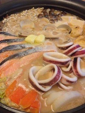 魚介が美味しい石狩鍋 まろやか酒粕仕立て by ようじずふぁくとりー ...