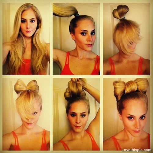 DIY Hair Bun Bow Pictures, Photos, and Images for Facebook, Tumblr, Pinterest, and Twitter