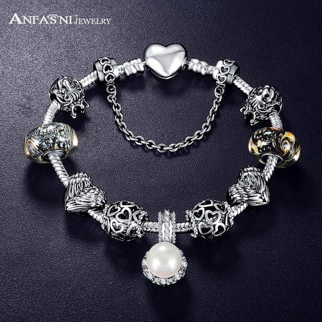 Love and Flower Crystal wedding Ball bracelet