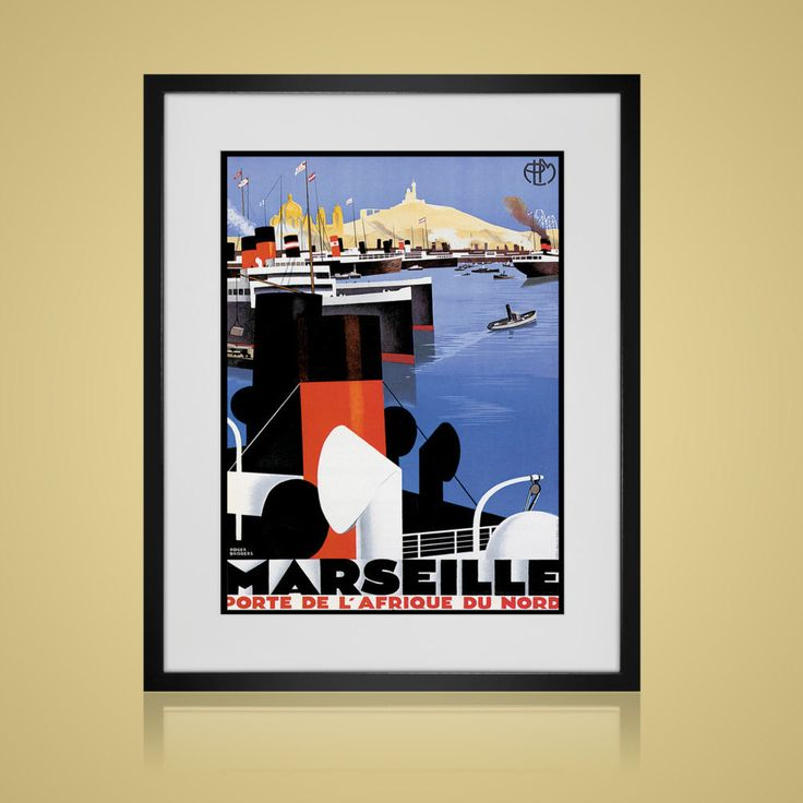 Framed wall art vintage travel poster wall art sets available in 4 sizes