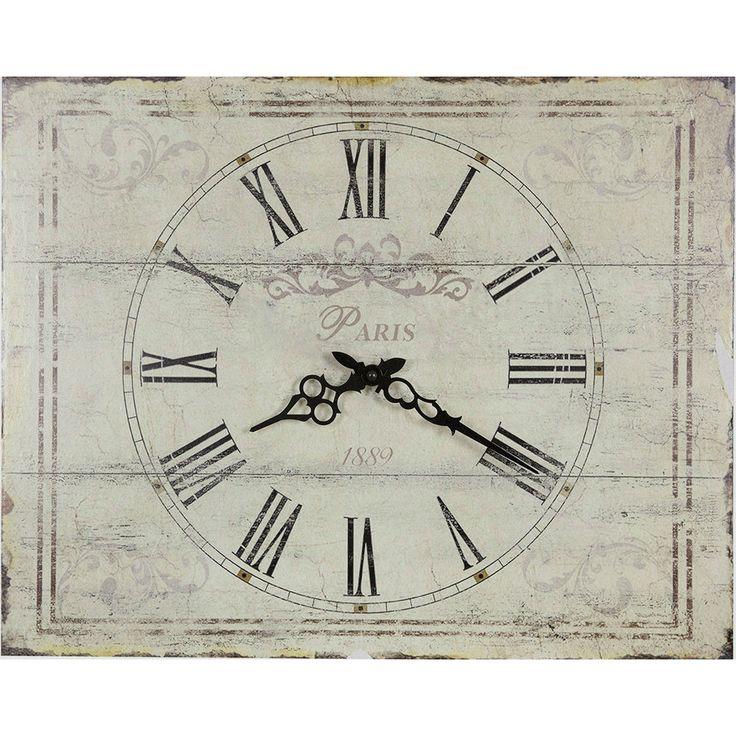 Ceas de perete Paris 1889 in stil Shabby Chic, proiectat in Italia de Angelica Home & Country. Vezi detalii ceasuri de perete pe AA Design Interior.