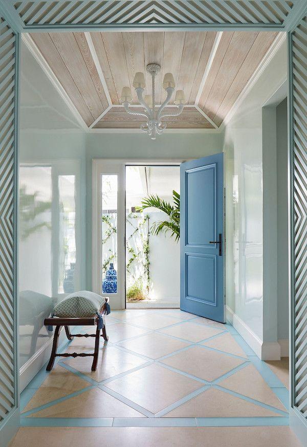 Home Tour Blue And White Palm Beach Perfection Palm Beach Decor