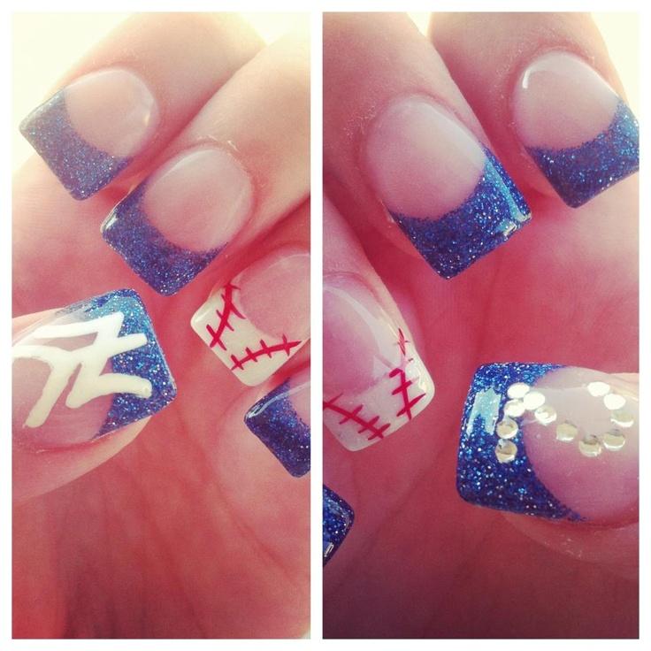 49 best Nails-Sports images on Pinterest | Yankees nails, Baseball ...