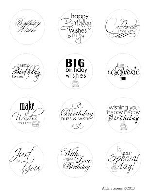 Birthday Sentiments - personal use please
