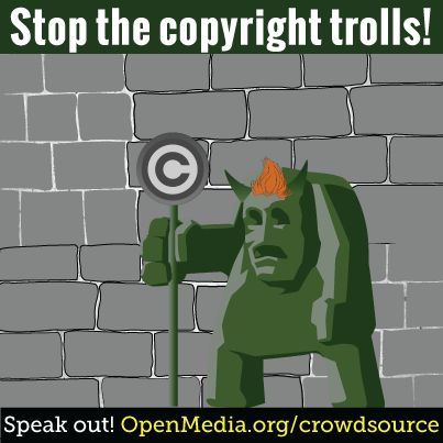 Don't let trolls censor your internet. Help design modern rules for sharing and collaborating online at https://OpenMedia.org/CrowdSource
