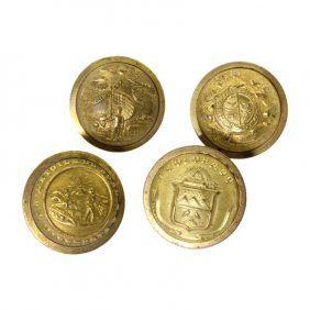 Set Of 4 Post Civil War Era State Militia Buttons ...