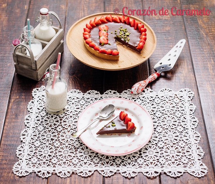 Tarta de Fresas y Chocolate