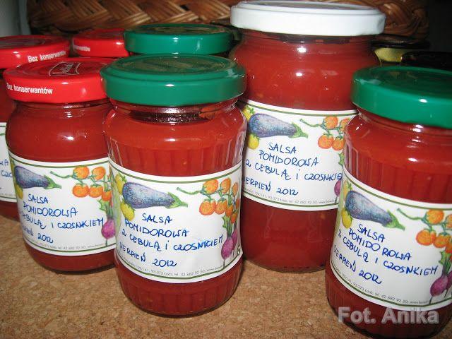 Domowa kuchnia Aniki: Przecier pomidorowy i salsa pomidorowa