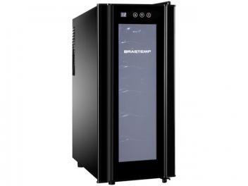 Adega Climatizada Brastemp 12 Garrafas - All Black BZC12B Display Digital
