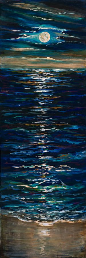 Moonlight Reflection Painting by Linda Olsen