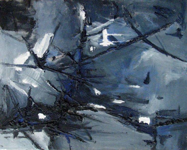 'L'eau de La Lune' by Wanda Jeanne Kavanagh Painting: Oil on Canvas. Year Created: 2008 Size: 45 H x 37 W x 4 cm SOLD  Open Edition Prints Available: All Sales Saatchi Art : http://www.saatchiart.com/wandalex