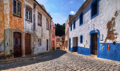 Colorful Houses, Monchique Portugal