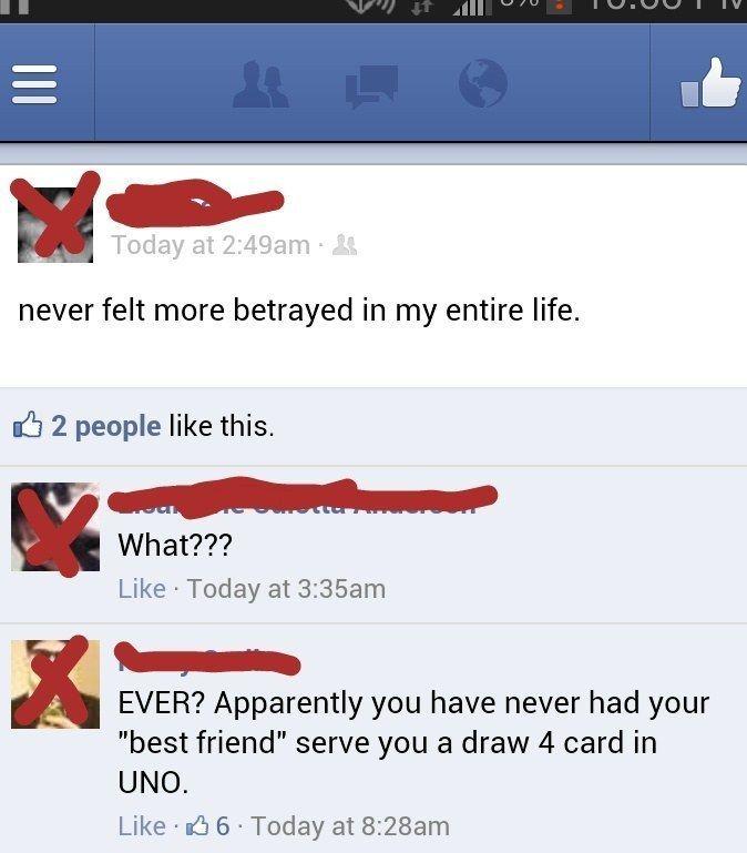 Utter betrayal: